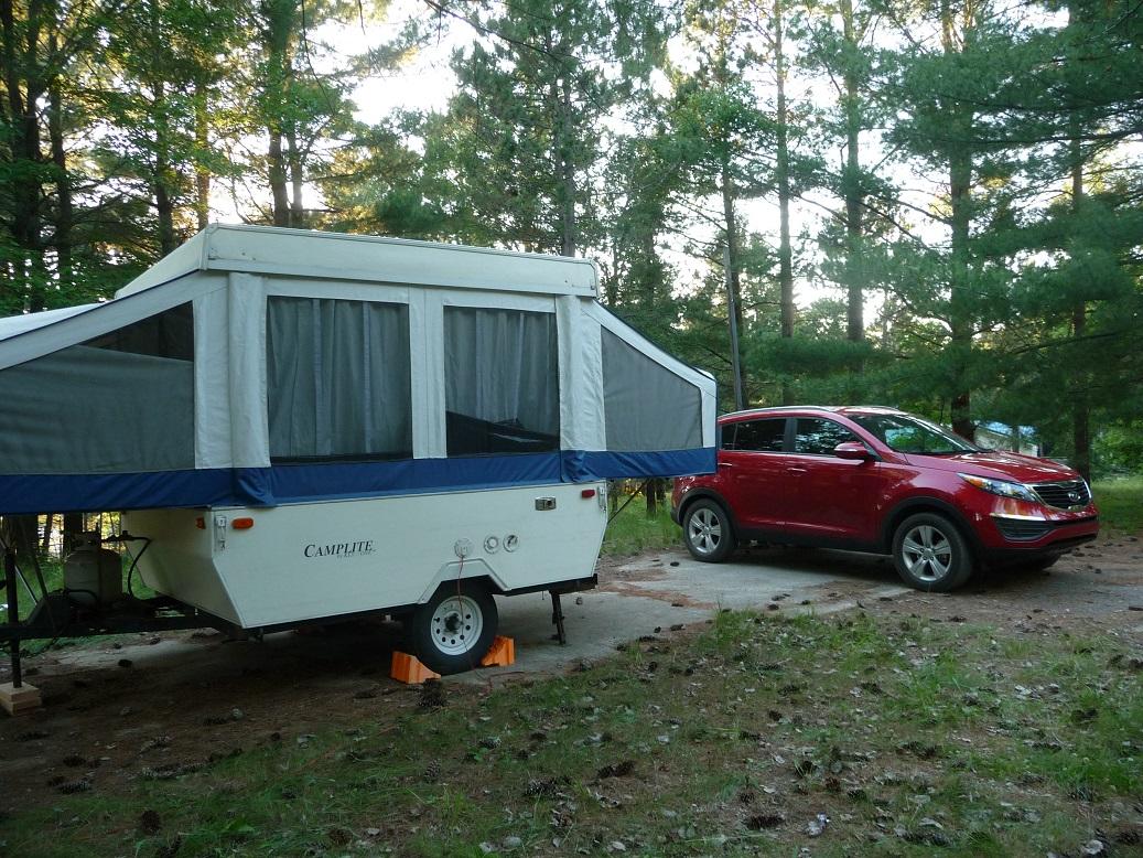 Towing a popup camper  DeadKia